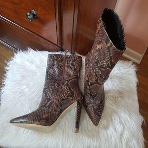 Aldo snake skin boots